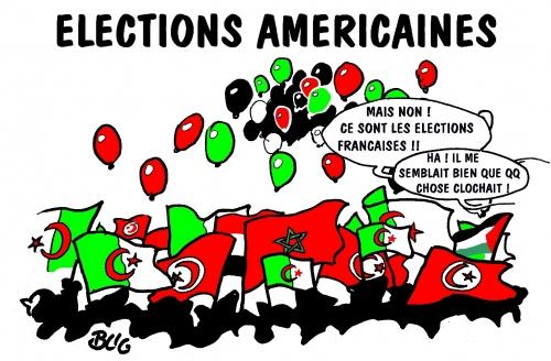 élections,américaines,françaises,drapeaux